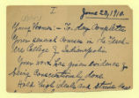 Speech notes, 1910 June 23,...