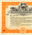 Winona Railroad Common Stock...